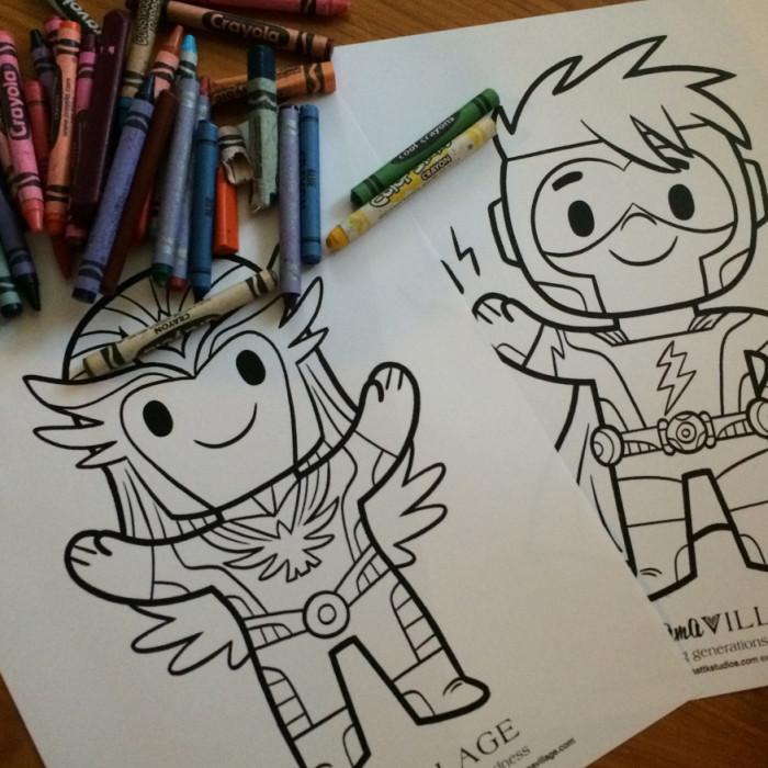 Coloring Heroes