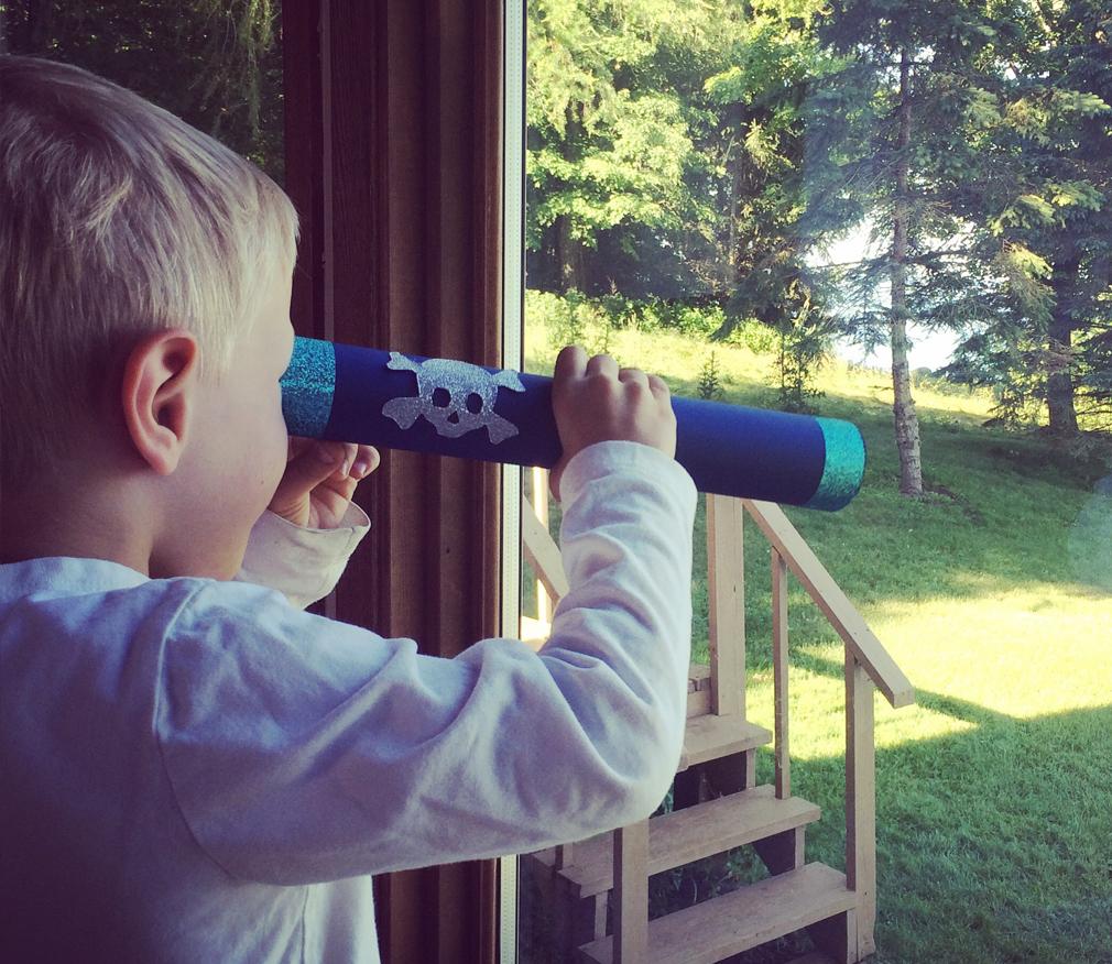 Toddler Pirate Telescope Craft