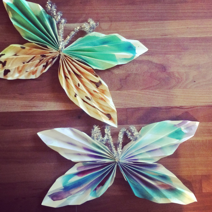 Indoor Camping Series: Paper Butterflies