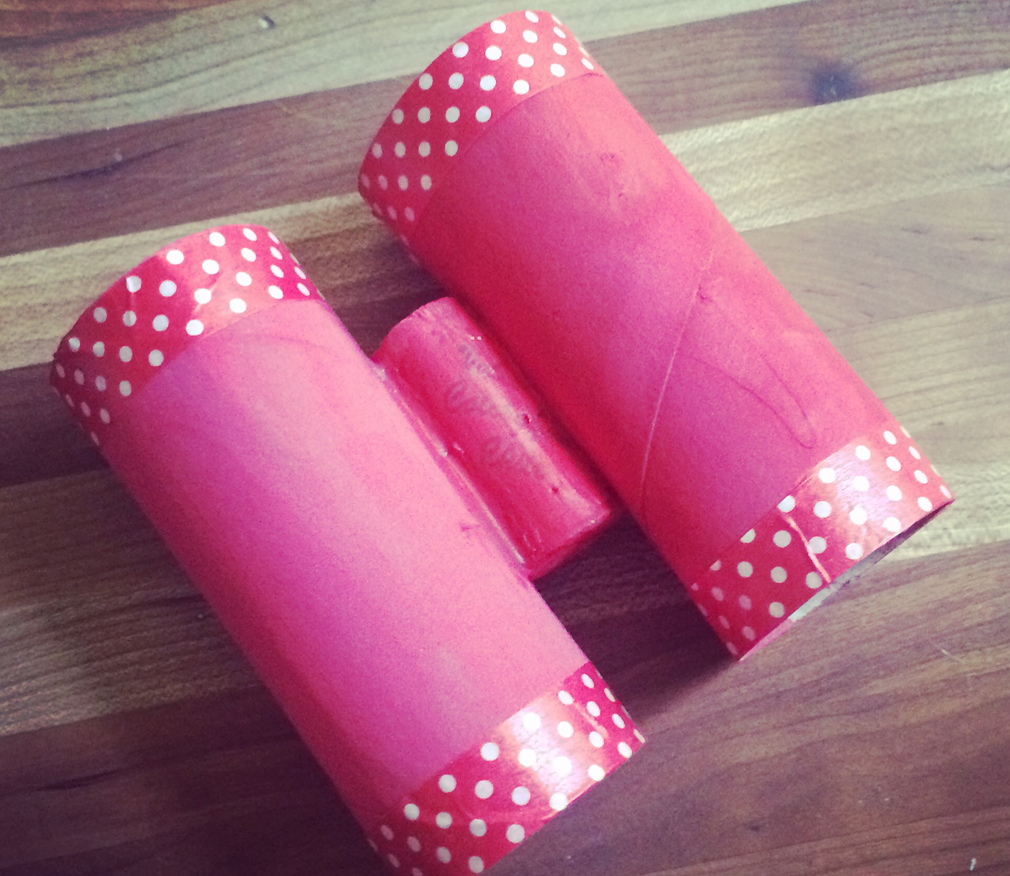 Toilet Paper Binoculars DIY kid craft
