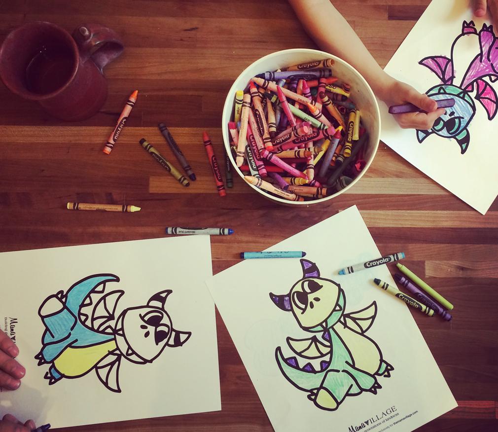 Dragon Coloring Sheets The Mama Village